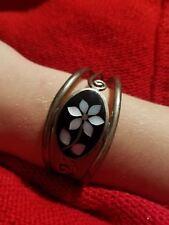 albone light purple daisy Alpaca Mexico cuff bracelet