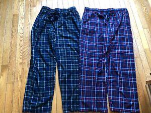 Sleep Pants- Lot of 2- Plaid Fruit of the Loom- Size Large-Nice