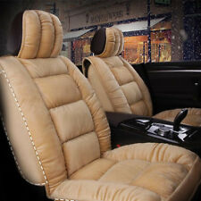 Deluxe Stuffed Down Plush Car Chair Covers 5-seats Puffy Seat Cushions Universal