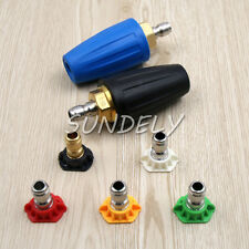 More details for uk stock power pressure washer 1000psi-5100psi turbo nozzles,rotating nozzle