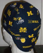 Michigan Wolverines Handmade 100% cotton, Welding, Biker, pipefitter,4 panel hat