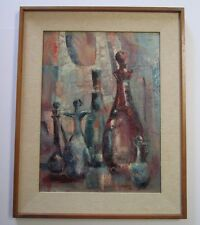 MORTON LEVIN PAINTING RARE EXPRESSIONIST ABSTRACT CUBISM PUPIL OF LHOTE ZADKINE