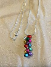 Jingle Bell Pendant and Snake Chain Necklace