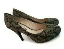 Evie  green animal print high heel shoes size 7