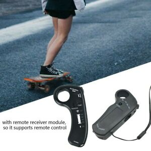 Portable Remote Control Electric Skateboard Four-Wheeled W/ Power Indicator