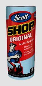 "55ct SINGLE Roll Scott SHOP TOWELS 11"" x 10.4"" Cleaning Sheets Heavy Duty 75130"