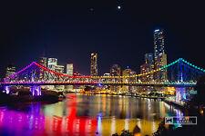 NEW XXXL 400 x 230M Brisbane Story Bridge Wallpaper Mural Photo - Self Adhesive