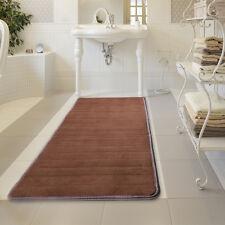 """24"""" x 60"""" Non-slip Back Rug Soft Bathroom Carpet Memory Foam Bath Mat Brown"""