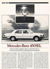 1980 Mercedes Benz 450SEL Original Car Review Print Article J530