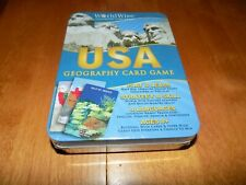 Worldwise Usa Us Geography Card Game Edition 2009 Tin Case 8+ Rare Sealed New