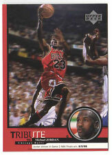 Michael Jordan 1999 Upper Deck Tribute Game 2 NBA Finals win Basketball Card