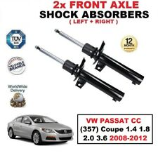 2x FRONT SHOCK ABSORBERS for VW PASSAT CC (357) Coupe 1.4 1.8 2.0 3.6 2008-2012