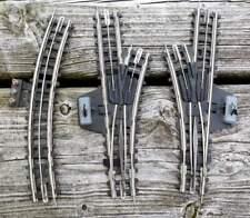 Trix: 2 manuelle Weichen, 1x Anschlußgleis mit Pappschwellen, 3-Leiter Schienen