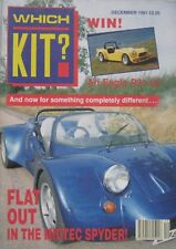 Which Kit? magazine 12/1991 featuring Midtec Spyder, Eagle, Lindy, Douglas