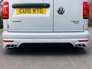 Volkswagen Caddy MK4 Rear Bumper with Exhaust Tips