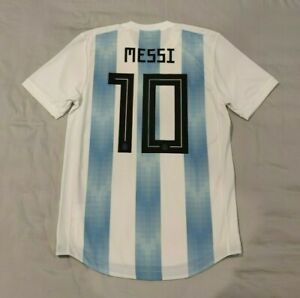 Argentina 2018 Home Player Issue Shirt Messi M