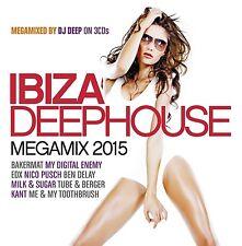 IBIZA DEEPHOUSE-MEGAMIX 2015 3 CD NEU