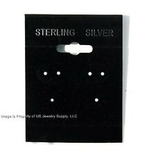 """100 Sterling Silver Black Hanging Earring Cards  2"""" High x 1 1/2"""" Wide with Lip"""