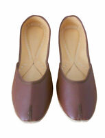 Women Shoes Leather Jutties Indian Mojari Brown Ballerinas UK 8.5 EU 43