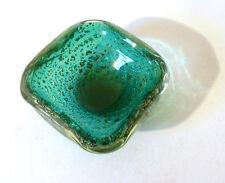 50s Murano Glas Schale Ascher Silberfolie glass bowl silver foil bol annees 50