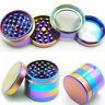 Tobacco Herb Spice Grinder 4 Piece Herbal Alloy Smoke Metal Chromium Crusher L