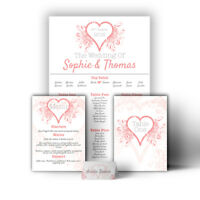 Personalised Heart Romantic Wedding Table Seating Plan A1 A2 A3 Print Canvas