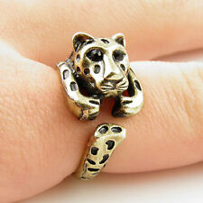 Animal Wrap Ring Gold Leopard Adjustable Size 6 Ring