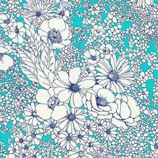 Laurel Canyon - Rock Rose Bouquet - Turquoise by Studio RK for Robert Kaufman