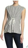 Max Studio Womens Top Tie Front Cap Sleeve Striped Small NEW NWT MSRP $58