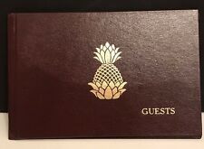 Wedding Guestbook Brown With Gold Pineapple $4.99