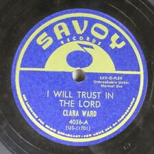 Hear! Black Gospel 78 Clara Ward - I Will Trust In The Lord / I Know What He'S D