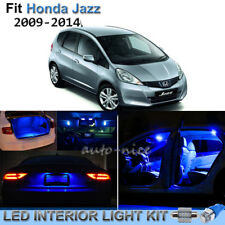 10pcs Pure Blue Interior LED Lights Package Kit For 2009-2014 Honda Fit Jazz