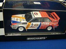 MINICHAMPS 430841991 AUDI QUATTRO - 1ST HUNSRUCK RALLY 1984 - DEMUTH / LUX