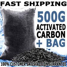 Aqua Aquarium Fish Tank Activated Carbon Canister Sump Filter Media + Bag 500G