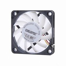 New Design PC Fan Ultra Quiet High Performance 60mm, 12T, 3/4 Pin White Wing