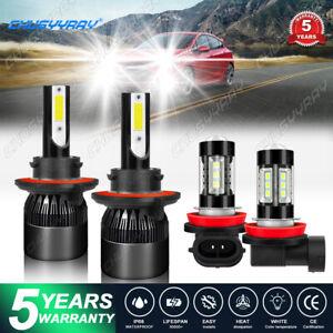 For 2011-2015Chevy Cruze LED Headlight + Foglight Combo Bulbs 9008+H11 6000k 4x