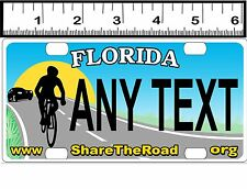 CUSTOM PERSONALIZED ALUMINUM BICYCLE MINI STATE LICENSE PLATE-FLORIDA BIKE