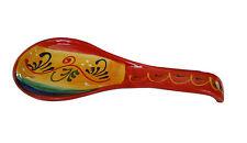 Spagnolo artigianale fatto a mano in ceramica dipinti a mano Cucchiaio di riposo 27x10 cm Utensili da cucina