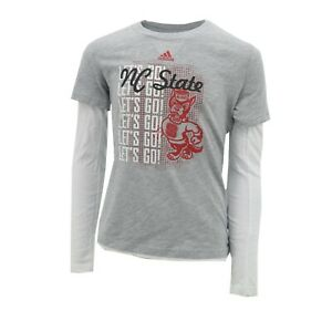 NC State Wolfpack Official NCAA Adidas Kids Youth Girls Size Long Sleeve Shirt