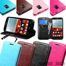 Leather Flip Wallet Card Holder Case Hhybrid Cover Stand For Various Phones +Pen