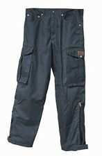 BIKER PANTS new BURKE AND WILLS oilskin trousers EXTRA SMALL xs MOTORBIKE