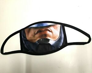 RoboCop style face mask. Double Layered with removable washable filter