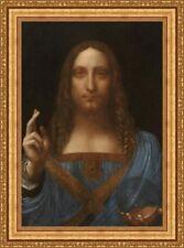 """Salvator Mundi""(37.5""x27.5"")Leonrdo Da Vinci Framed Canvas Giclee Print(535-01"