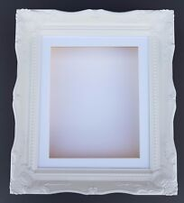 "3D 12 x 10"" White Shabby Chic Swept Picture Memory Frame Castings 3.5/90mm Box"