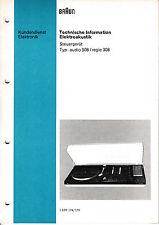 Service Manual-Anleitung für Braun Regie 308/Audio 308