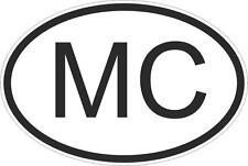 Adesivo adesivi sticker codice auto moto ritagliato nazioni ovale monaco