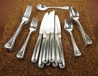 29 Piece Set of Vintage BEADED EDGE 18-8 Stainless Japan Flatware