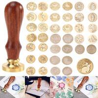 44 Styles Handle Seal Sealing Wax Stamp for Stamping Wedding Envelope Gift Card