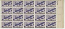 US Sc# C27 VF PLATE # BLOCK of 20 Twin-Motored Transport Plane 10 cents MNH