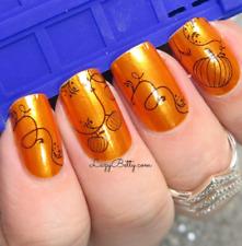 Color Street AUTUMN HARVEST (Orange Shimmer Black Pumpkins on Vine Fall Holiday)